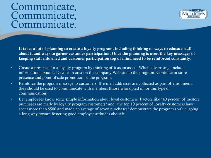 Communicate,
