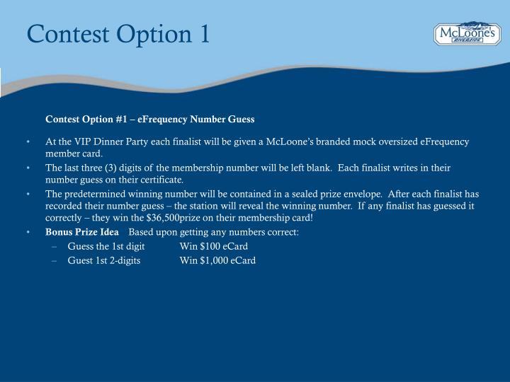 Contest Option 1