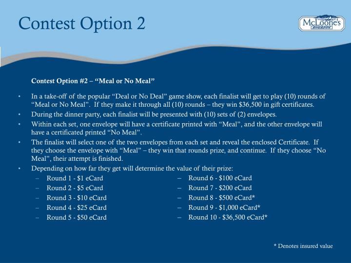 Contest Option 2