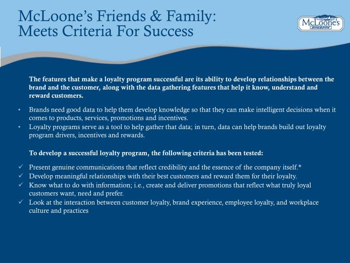 McLoone's Friends & Family: