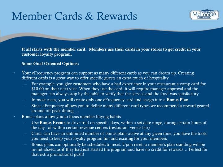 Member Cards & Rewards