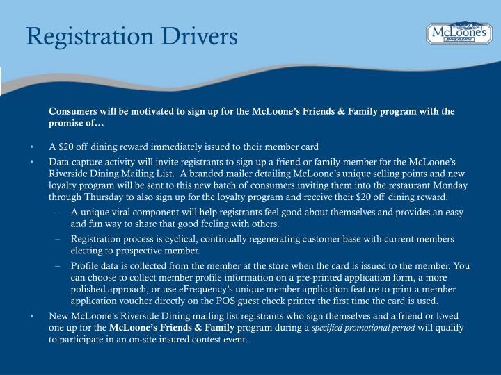 Registration Drivers