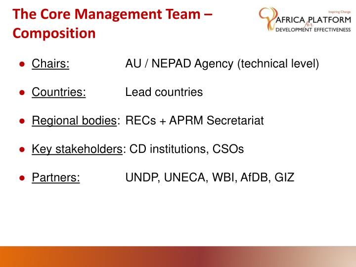 The Core Management Team –