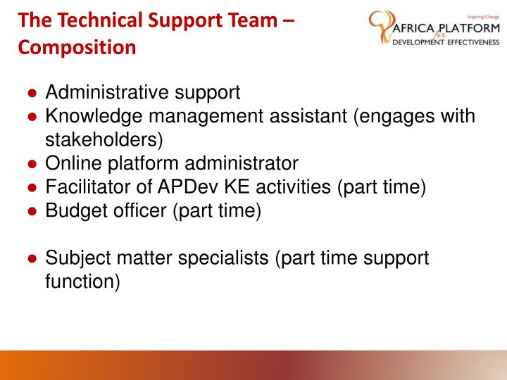 The Technical Support Team –