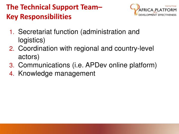 The Technical Support Team–
