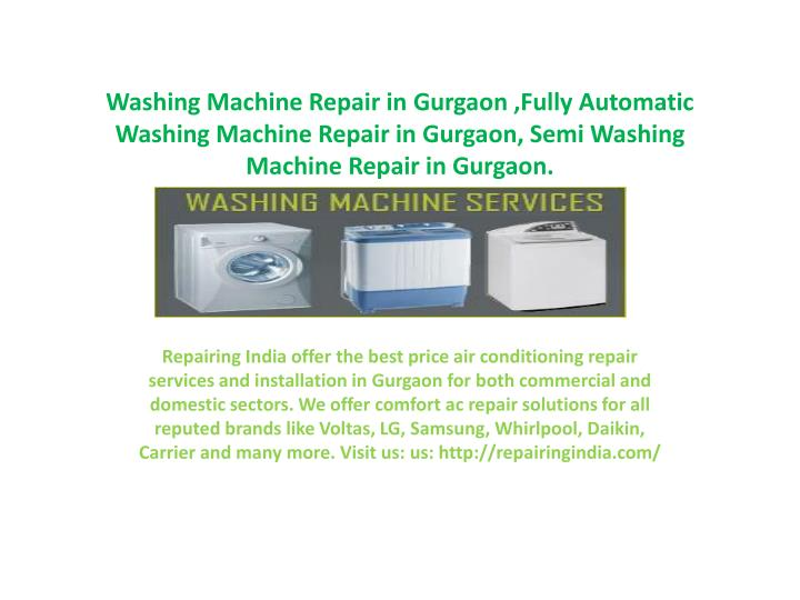 Washing Machine Repair in