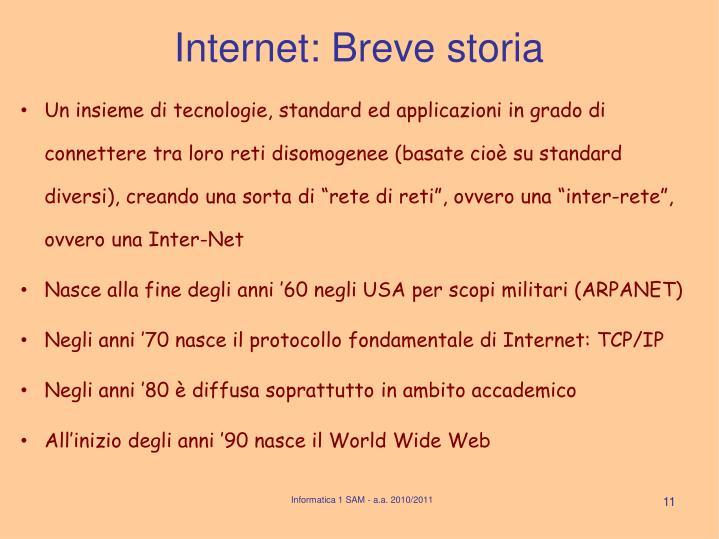 Informatica 1 SAM - a.a. 2010/2011