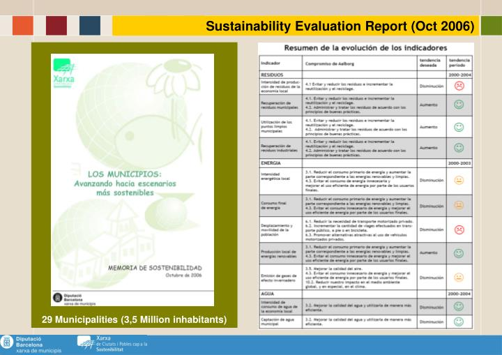 Sustainability Evaluation Report (Oct 2006)