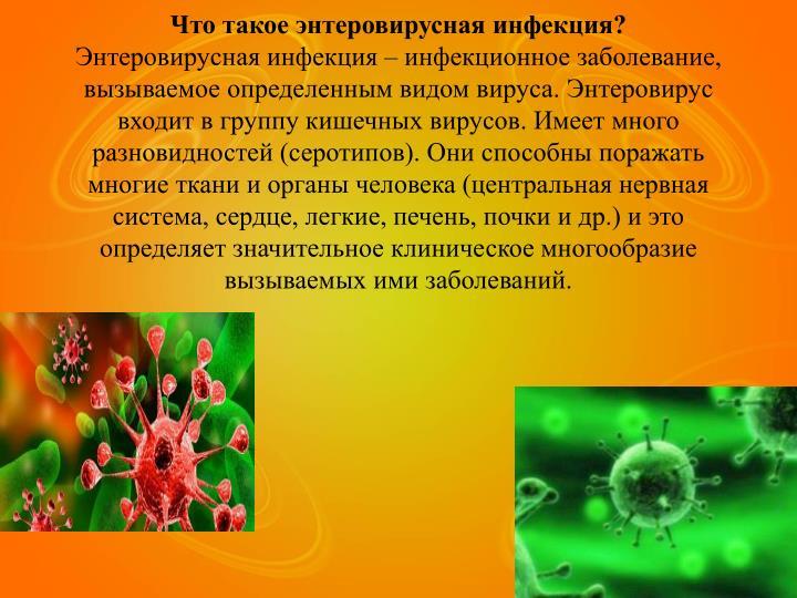 Что такое энтеровирусная инфекция?