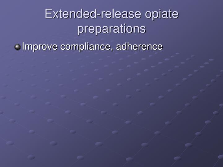 Extended-release opiate preparations