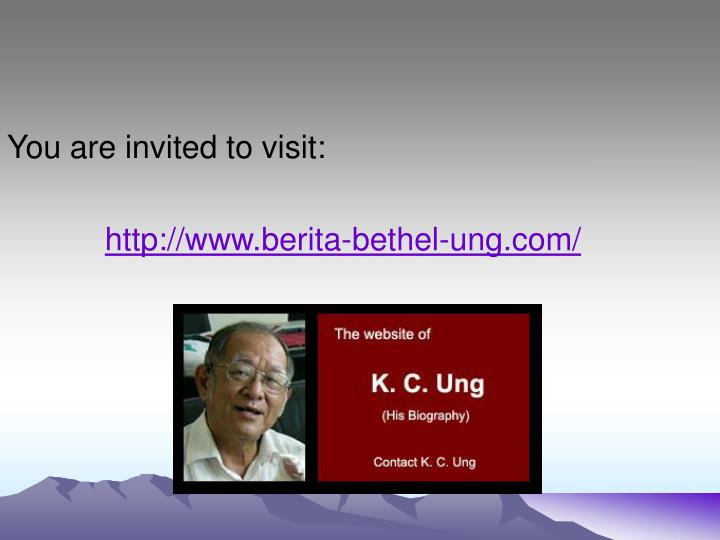 You are invited to visit: