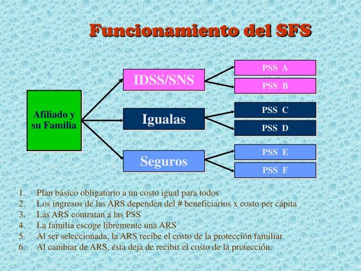Funcionamiento del SFS