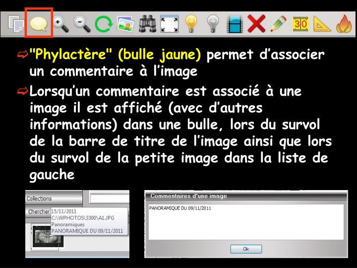 """Phylactère"" (bulle jaune)"