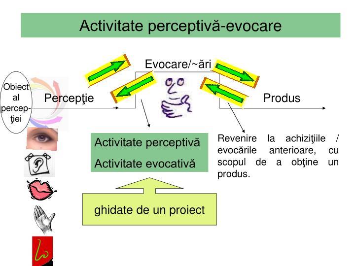 Activitate perceptivă-evocare