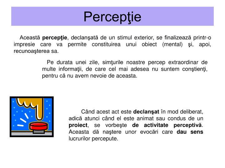 Percepţie
