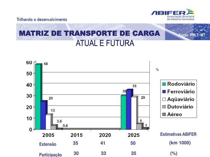 MATRIZ DE TRANSPORTE DE CARGA