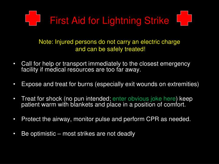 First Aid for Lightning Strike