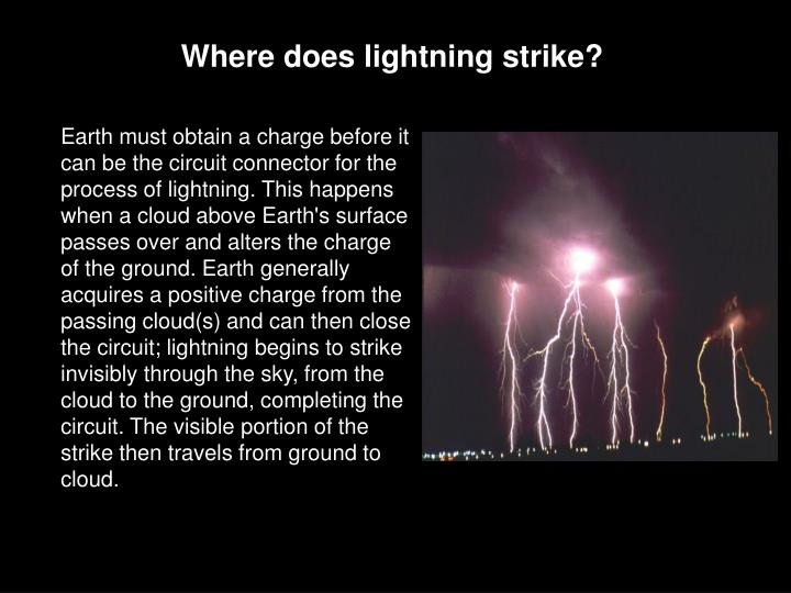 Where does lightning strike?