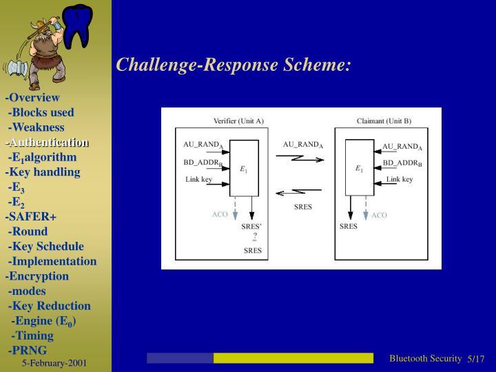 Challenge-Response Scheme: