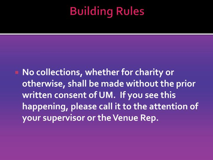 Building Rules