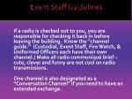 event staff guidelines11