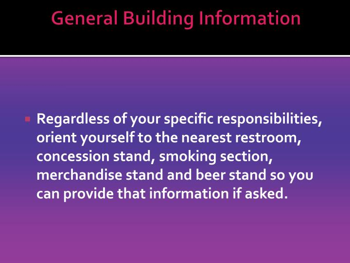 General Building Information