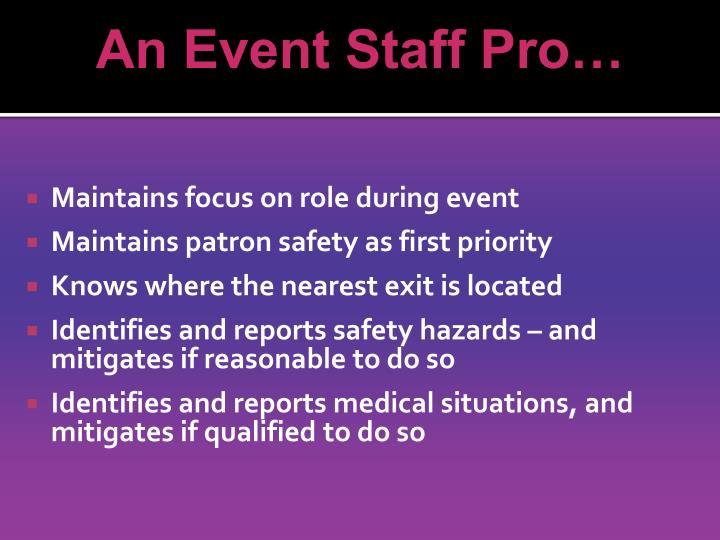 An Event Staff Pro…