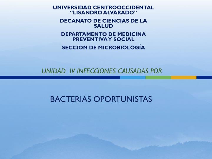 "UNIVERSIDAD CENTROOCCIDENTAL ""LISANDRO ALVARADO"""