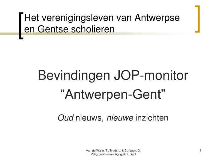 Het verenigingsleven van Antwerpse en Gentse scholieren