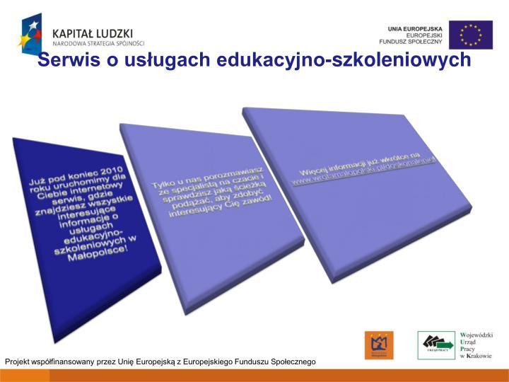 Serwis o usługach edukacyjno-szkoleniowych