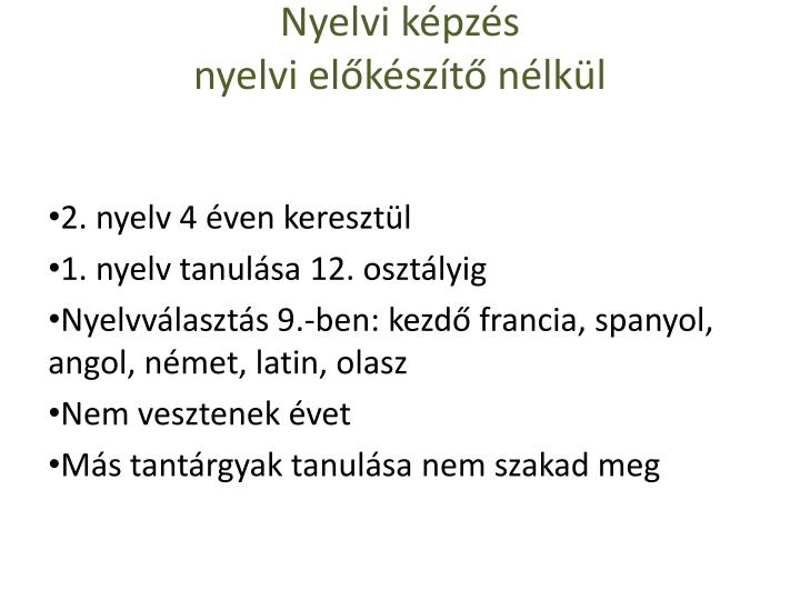 Nyelvi képzés