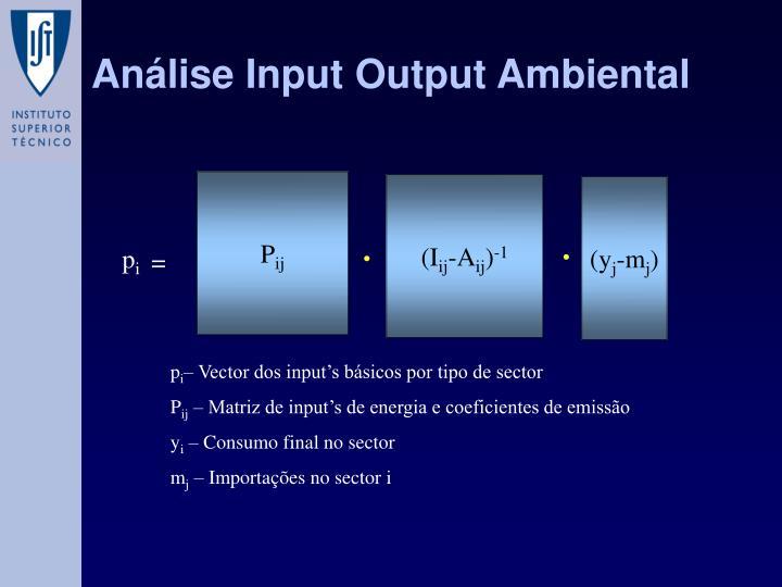 Análise Input Output Ambiental