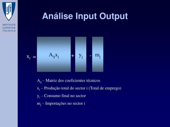 Análise Input Output