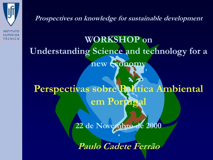 Prospectives on knowledge for sustainable development
