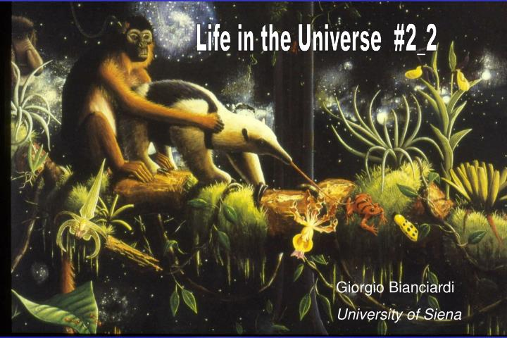 Life in the Universe  #2_2