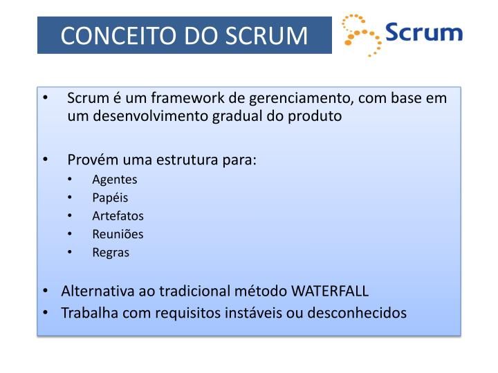 Conceito do scrum