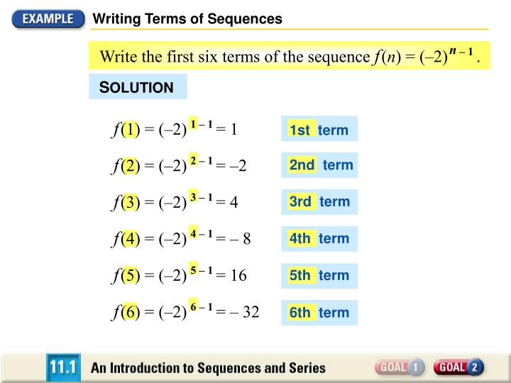 Writing Terms of Sequences