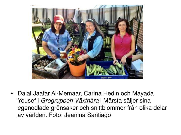 Dalal Jaafar Al-Memaar, Carina Hedin och Mayada Yousef i