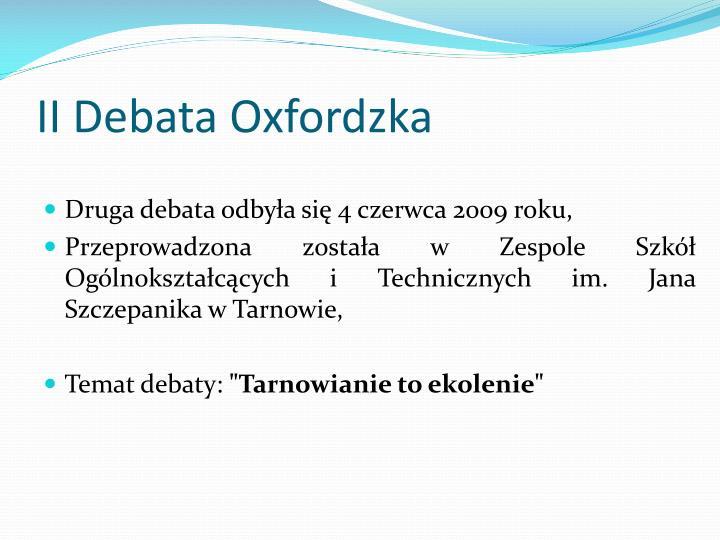 II Debata Oxfordzka