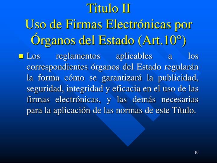 Titulo II