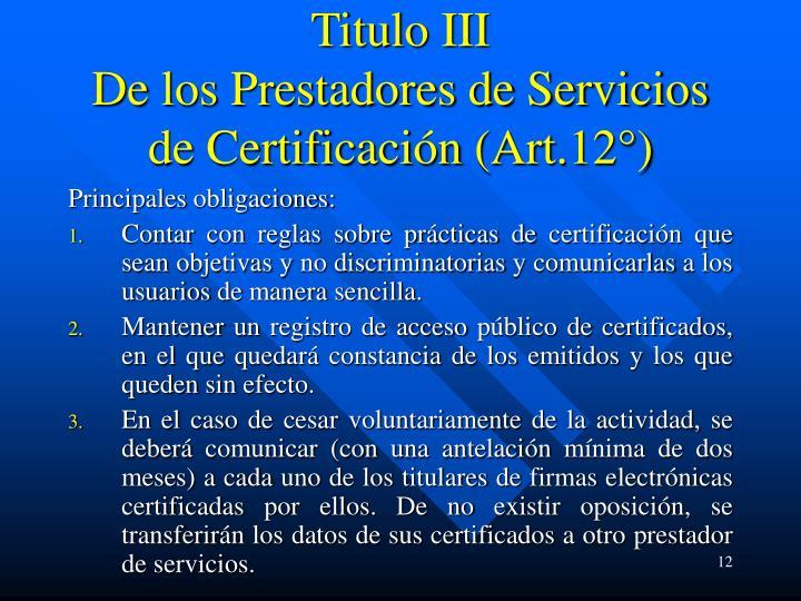Titulo III