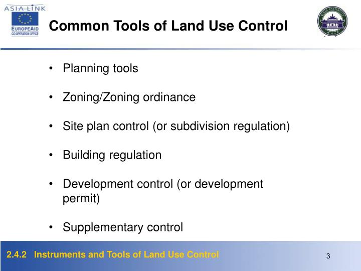 Common Tools of Land Use Control