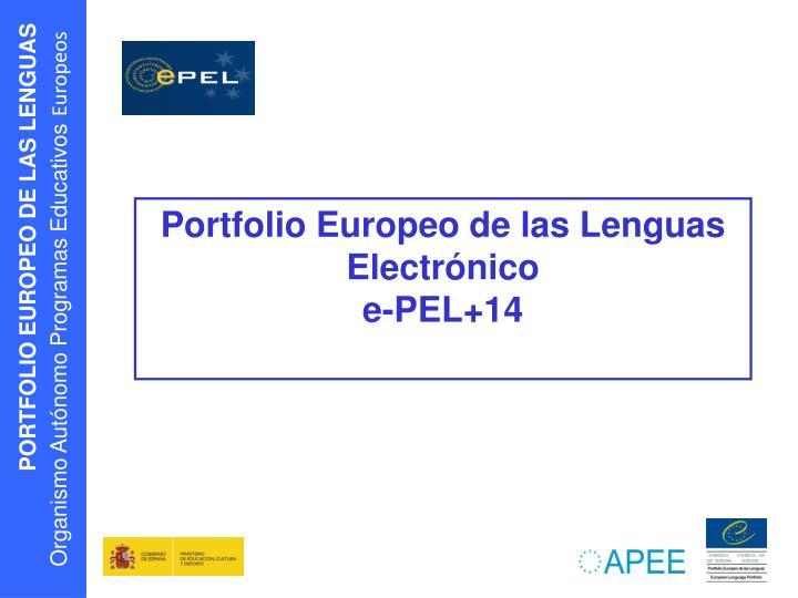 Portfolio Europeo de las Lenguas Electrónico