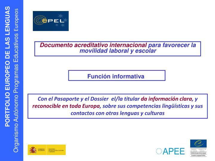 Documento acreditativo internacional