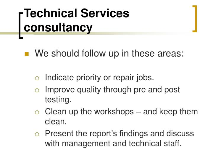 Technical Services consultancy