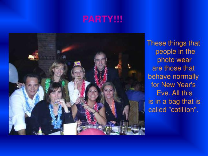 PARTY!!!