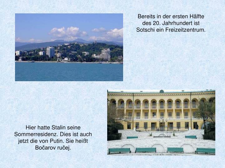 Bereits in der ersten Hälfte des 20. Jahrhundert ist Sotschi ein Freizeitzentrum.