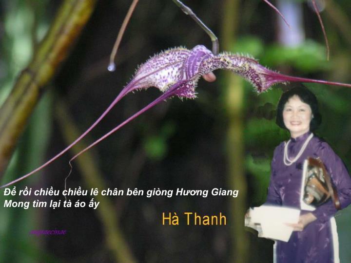 Để rồi chiều chiều lê chân bên giòng Hương Giang