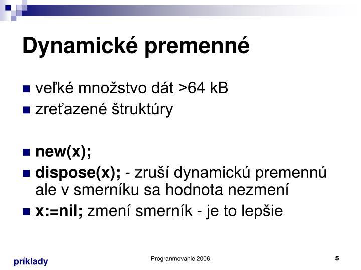 Dynamické premenné