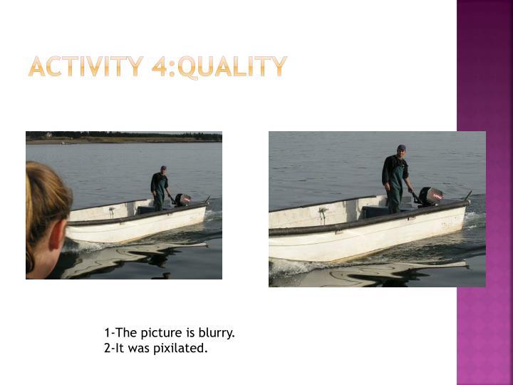 Activity 4:Quality